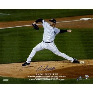 Andy Pettitte Autographed Pettitte Retirement Logo Pitching