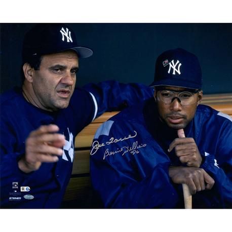 Bernie Williams & Joe Torre New York Yankees Dual-Signed Dugout