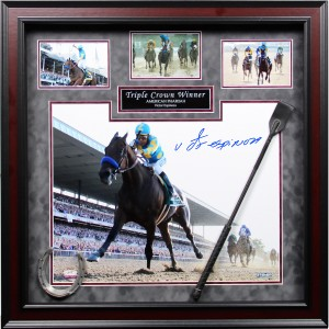 Framed Victor Espinoza Autographed Triple Crown