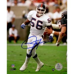 Lawrence Taylor Autographed White Uniform vs Bears